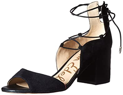 Sam Edelman Women's Serene Dress Sandal, Black Suede, ...