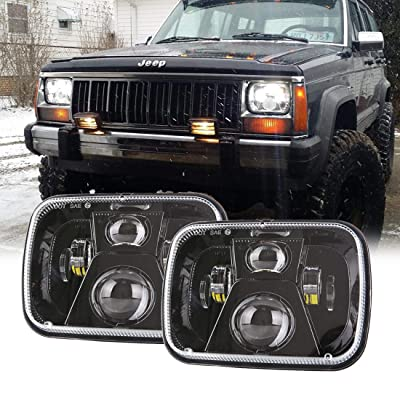 New Osram Chips 110W 5x7 Inch Led Headlights 7x6 Led Sealed Beam Headlamp with High Low Beam H6054 6054 Led Headlight for Jeep Wrangler YJ Cherokee XJ H5054 H6054LL 6052 6053 2 Pcs: Automotive