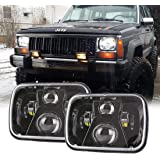 New Osram Chips 110W 5x7 Inch Led Headlights 7x6 Led Sealed Beam Headlamp with High Low Beam H6054 6054 Led Headlight for Jeep Wrangler YJ Cherokee XJ H5054 H6054LL 6052 6053 2 Pcs