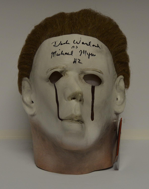 DICK WARLOCK signed Michael Myers 'BLOOD TEARS' Mask from Halloween 2 - Adult Mask DICK WARLOCK signed Michael Myers 'BLOOD TEARS' Mask from Halloween 2 - Adult Mask