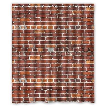 Stylish Living Elegant Brick Wall Bathroom Shower Curtain 60quot X 72quot For