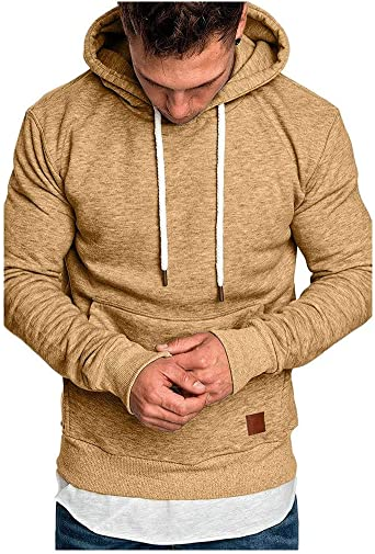 pull homme col montant capuche