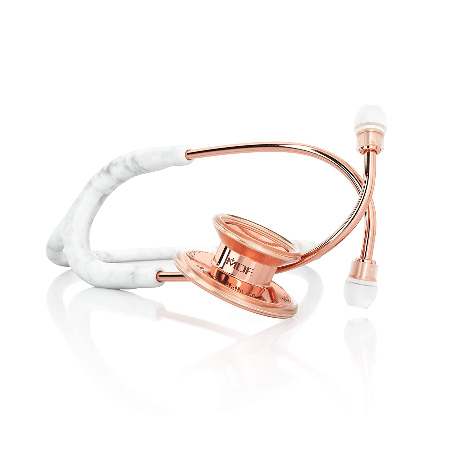 MDF MD One Marble Rose Gold Stethoscope – Limited Edition – Free-Parts-for-Life Lifetime Warranty – Marble Rose Gold MDF777-MBRG