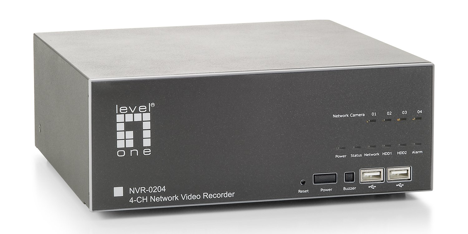 LevelOne NVR-0204 4-Channel Gigabit Network Video Recorder by CP Technologies B0051BTY9G