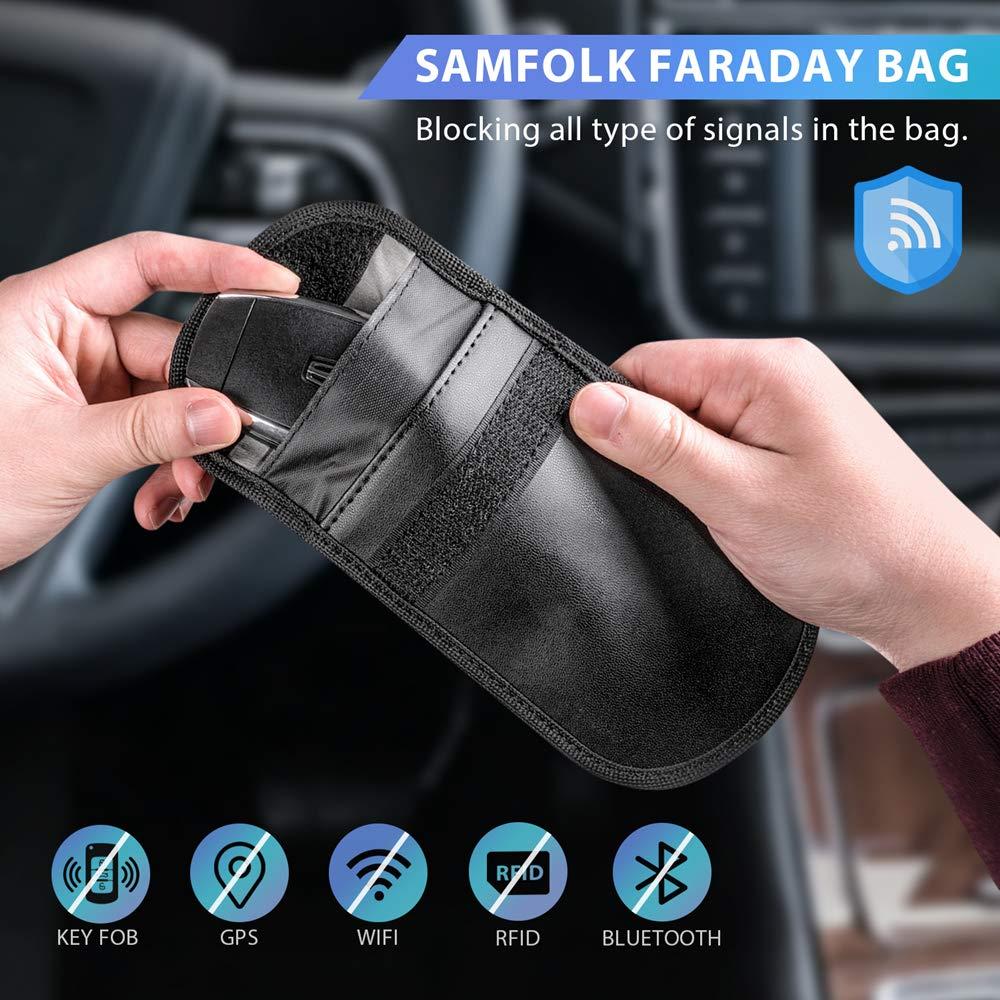 Bolsa Faraday para llaves de coche, funda de bloqueo de señal de ...