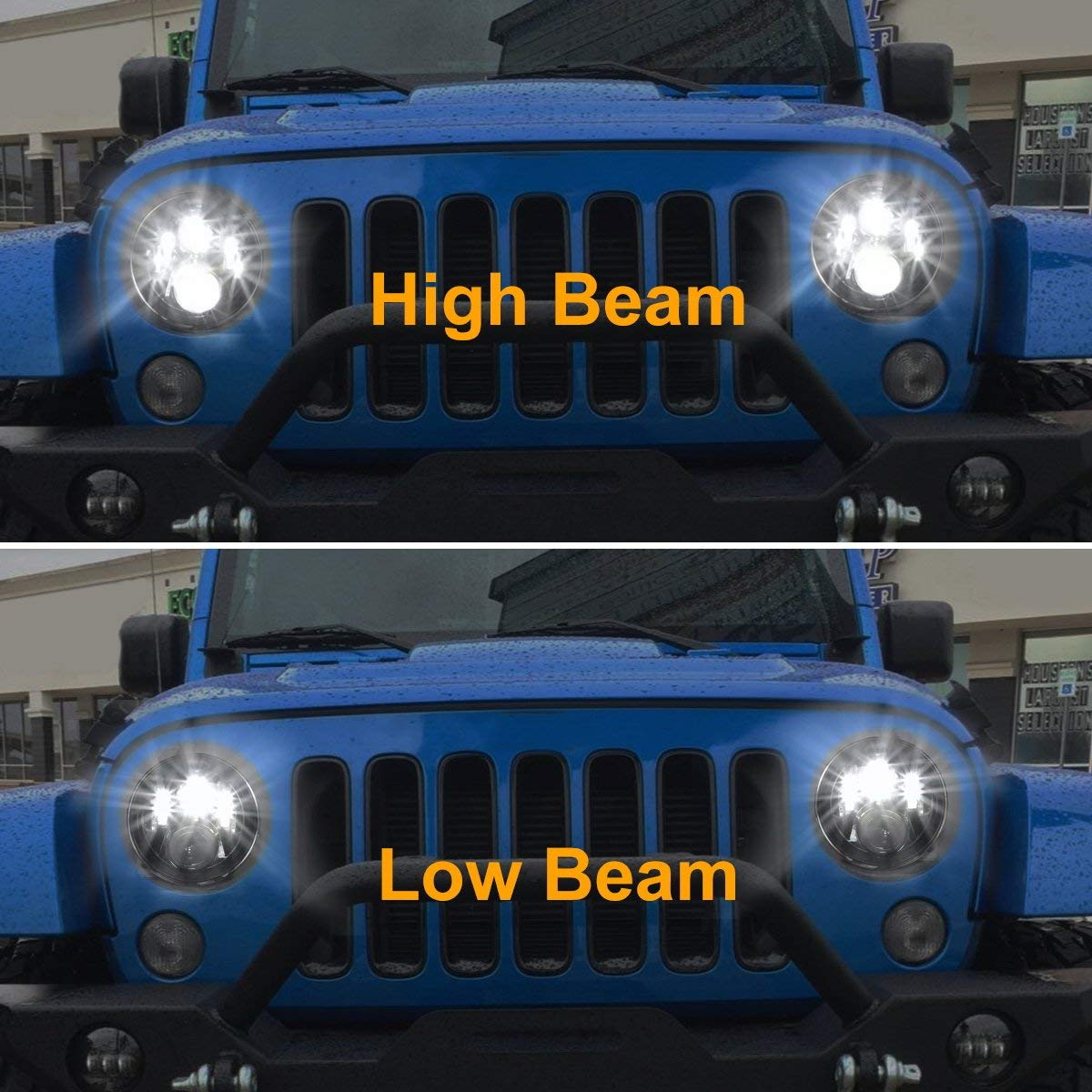 2pcs 7 Inch Round Led Headlights Daymaker Bulb With Hi Exciting Scout Crafts 1 Or 2 Headlamp Lo Beam Replacement For Jeep Wrangler Jk Tj Cruiser Hummer H1 H2 Harley
