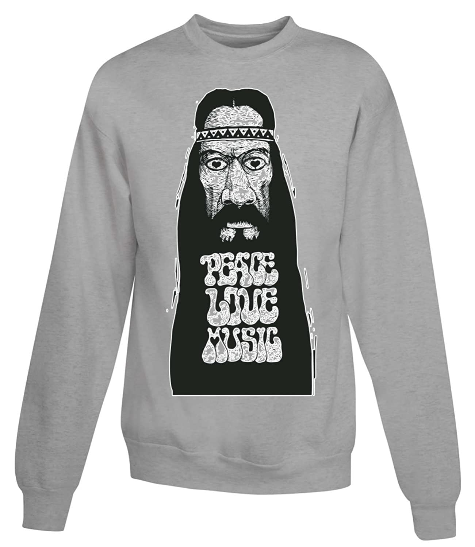 Love Peace And Music Face Women's Unisex Sweatshirt