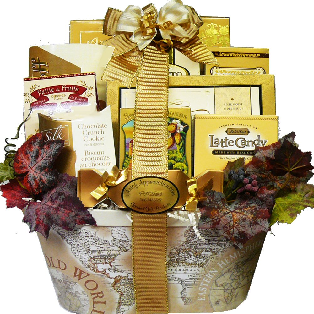 Old World Charm Gourmet Food and Snacks Gift Basket (Chocolate Option)