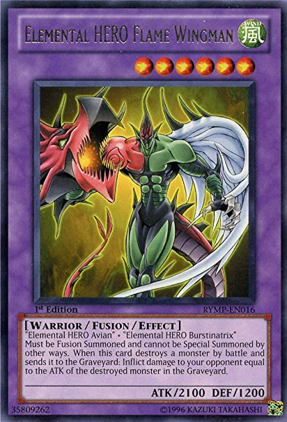 Yu-Gi-Oh! - Elemental HERO Flame Wingman (RYMP-EN016) - Ra Yellow Mega-Pack - 1st Edition - Rare
