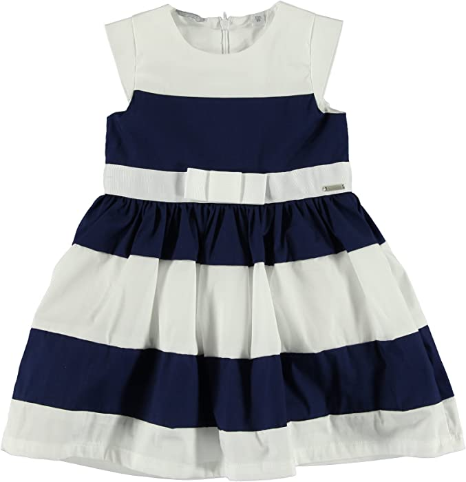 eb4135068672 Sarabanda - Abito - linea ad a - ragazza Marineblau-Weiß 3 anni  Amazon.it   Abbigliamento