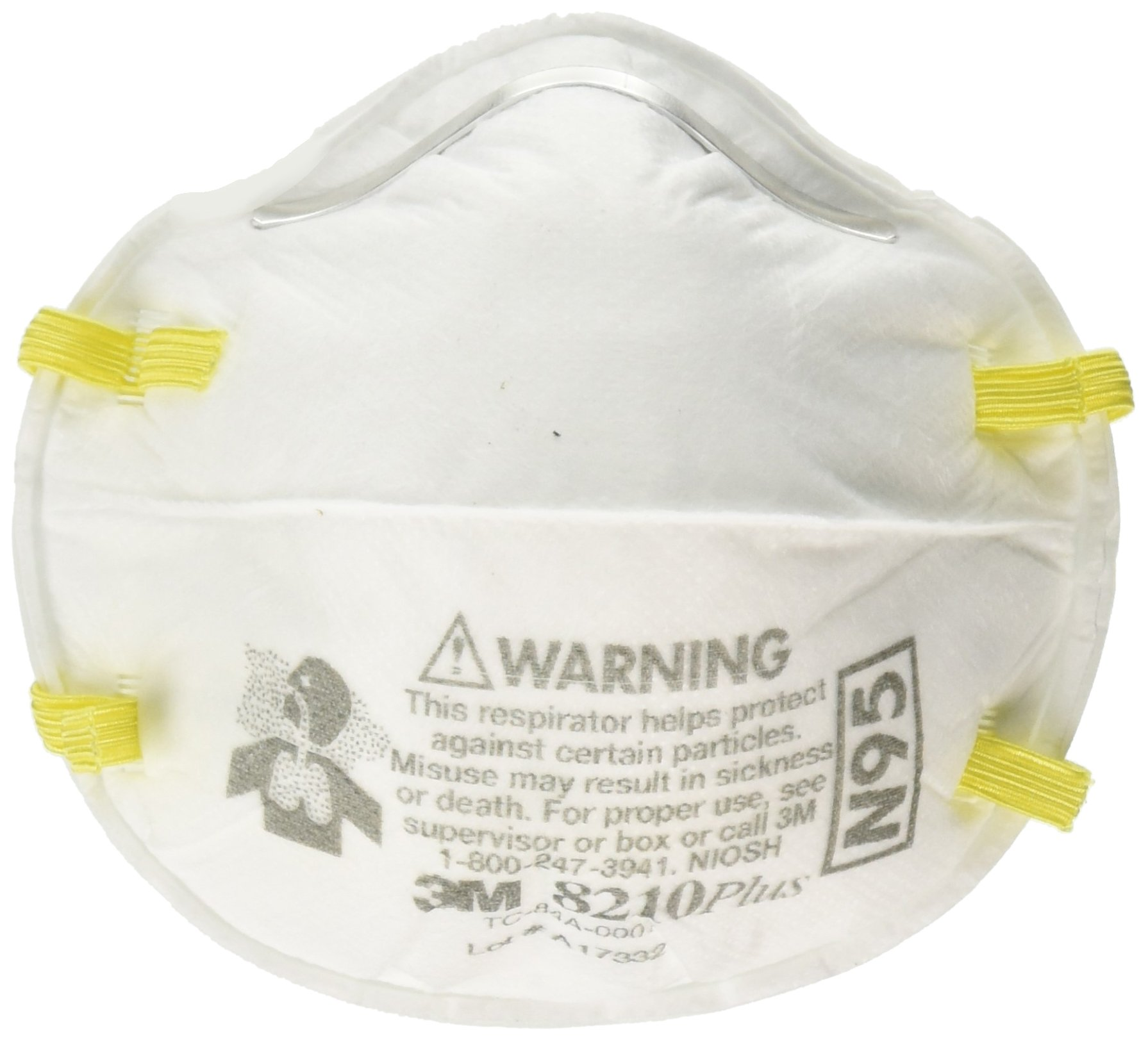 3M Safety 142-8210PLUS N95 8210Plus Particulate Respirator (Box of 20) by 3M Safety
