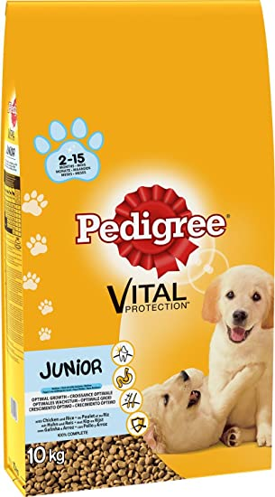 Pedigree Dry Puppy Food Medium Chicken Rice 10 Kg Amazon Co Uk