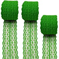 3 Rolls 10 Yards Floral Lace Ribbon Lace Trim Webbing Fabric for DIY Jewelry Making Craft Clothes Accessories Gift…