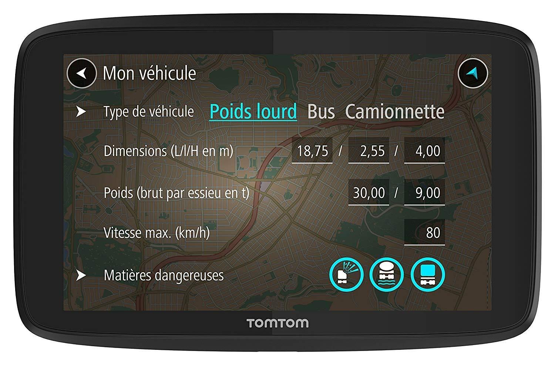 - GPS Poids Lourds via Smartphone TomTom GO Professional 520 5 pouces Cartographie Europe 48 et Trafic /à Vie