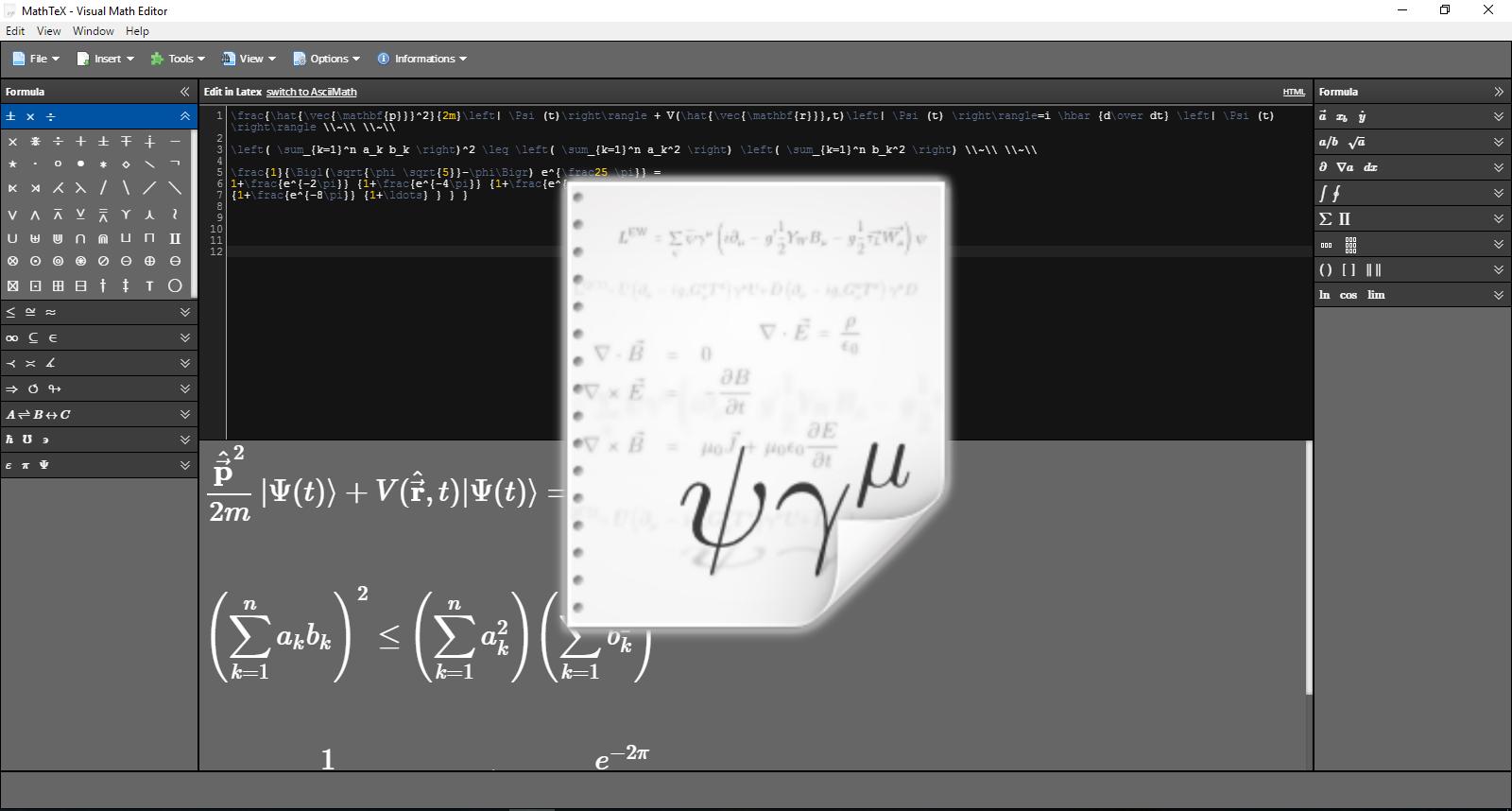 MathTeX Editor Professional [Dow...