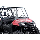SuperATV Honda Pioneer 700 Scratch Resistant Clear Full Windshield (All Years)