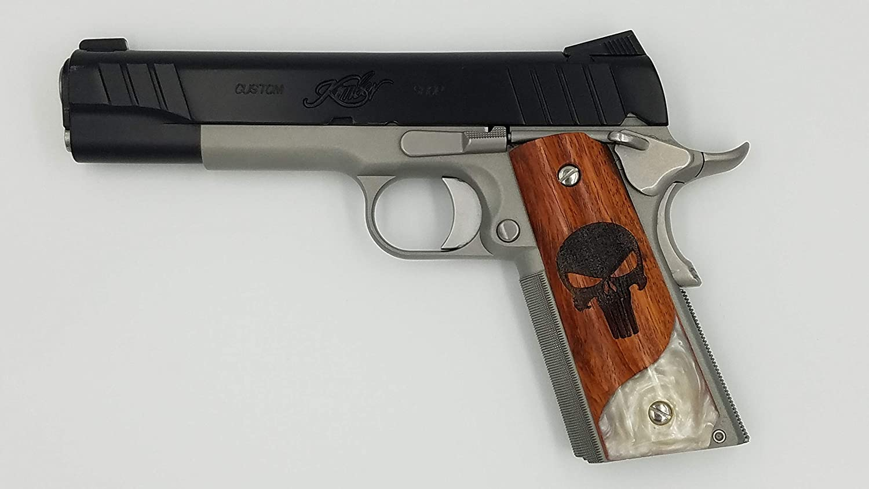 Amazon com : 1911 Custom Grip Laser Engraved Punisher on
