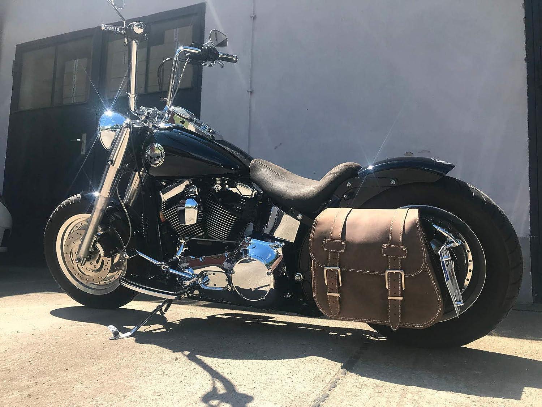 ORLETANOS Halterung Satteltasche kompatibel mit Harley Davidson Softail Fatboy Linke Seite 1997-2017 pulverbeschichtet Hertage Deluxe Twin cam Evolution evo XL Koffer Seitentasche