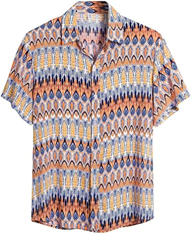 Nueva Camisa Hawaiana para Hombre Primavera y Verano Moda Camisas Estampada Unisex Shirt Casual Suelta Top de Manga Corta de Vacaciones en la Playa Delgado: Amazon.es: Ropa y accesorios