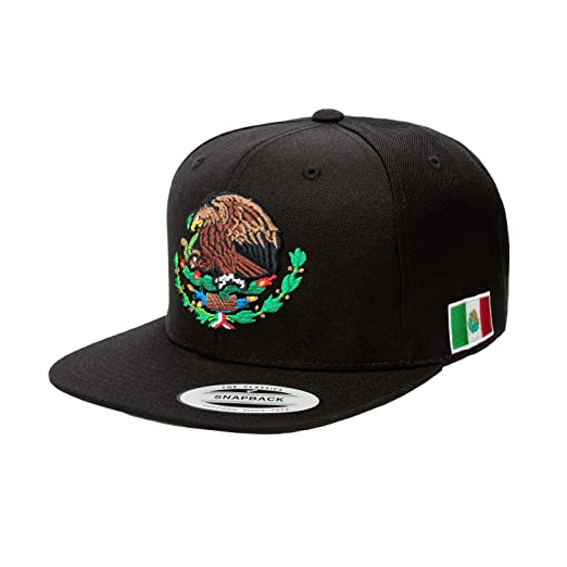 9163ded1c452d6 Amazon.com: Yupoong Mexico Snapback Hats (Black/Red): Clothing