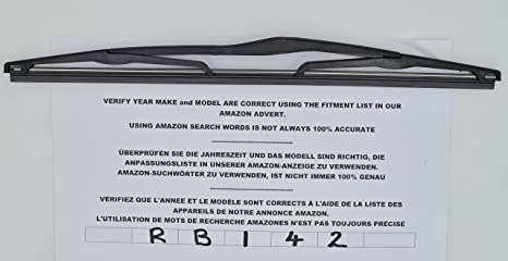 Limpiaparabrisas trasero de ajuste exacto 35 cm RB142