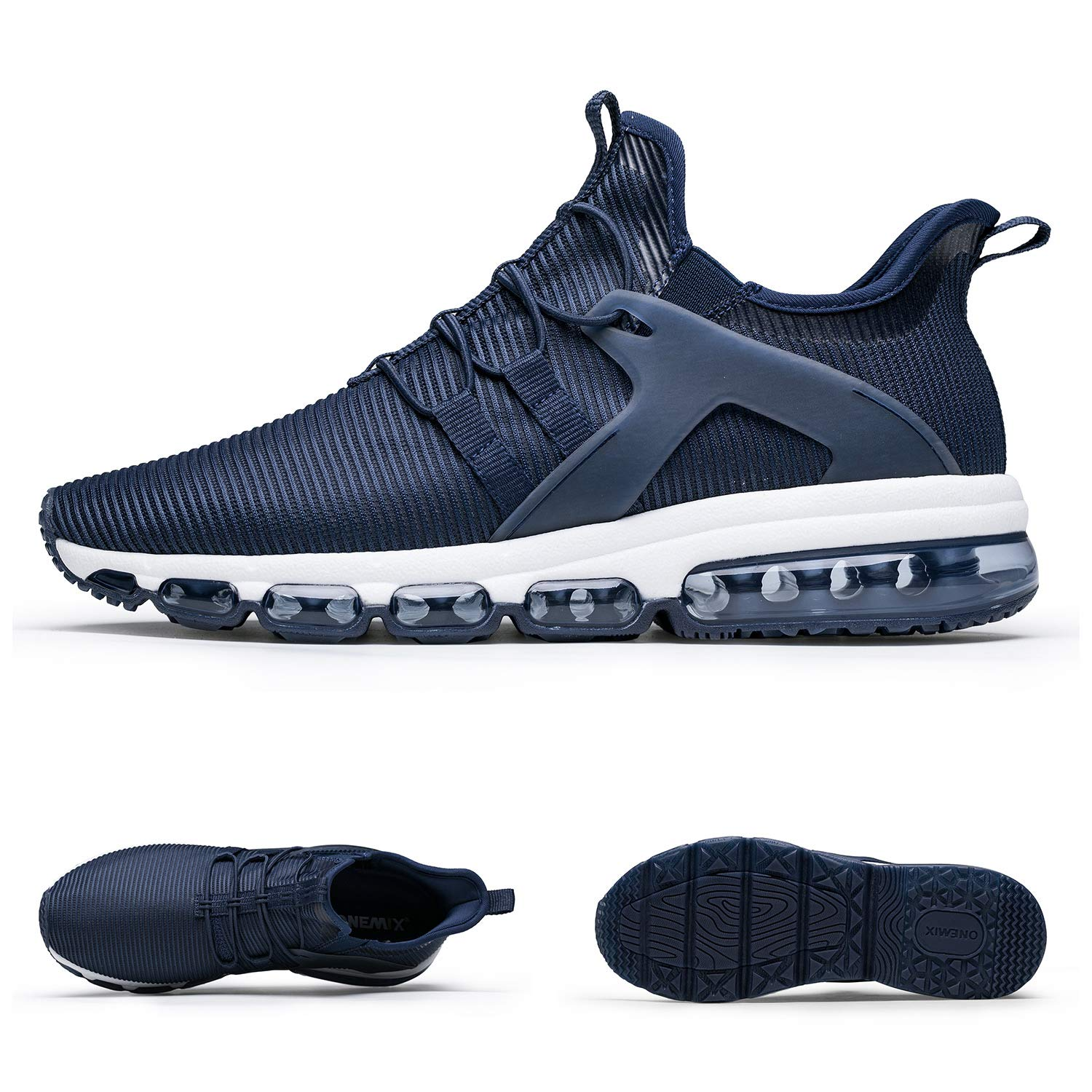 competitive price da5e3 a3946 Amazon.com   ONEMIX Men s Running Shoes Fashion Slip On Sneakers Breathable  Mesh Athletic Lightweight Sports Walking Training Shoes   Shoes
