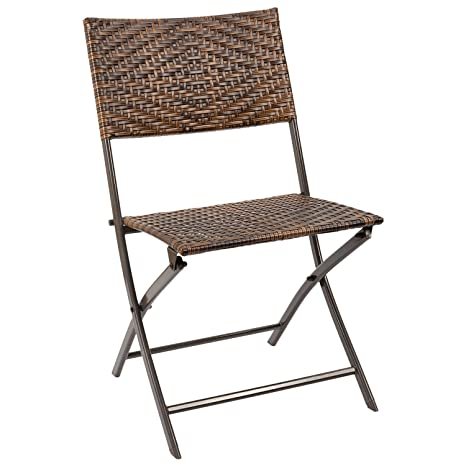 amazon com homall outdoor patio folding sling chair patio furniture rh amazon com Folding Chair Covers Clearance Closeout Folding Metal Chairs