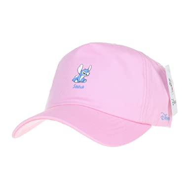 6116b028eea WITHMOONS Disney Baseball Cap Lilo and Stitch Patch Hat CR1308 (Pink ...