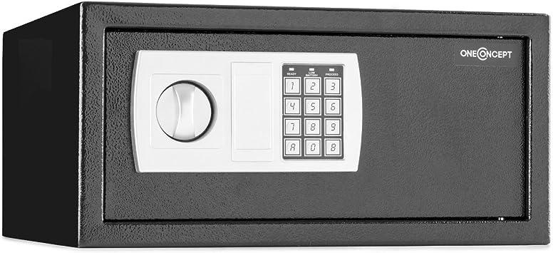 oneConcept Hotelguard Laptopsafe Caja Fuerte Seguridad con combinación (Cerradura electrónica, Apto Montaje en Armario o Pared, Capacidad Ordenador portátil 15