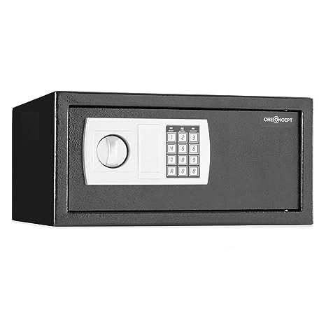 oneConcept Hotelguard Laptopsafe Caja Fuerte Seguridad con combinación (Cerradura electrónica, Apto Montaje en Armario