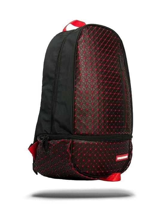 Sprayground Origami Rubber DLXX Backpack Black One Size EiBHd9