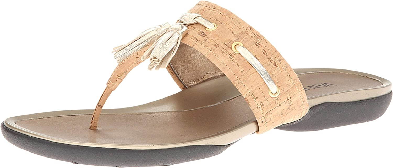 Womens Sandals Vaneli Wanita Natural Cork/Platino Met Nappa