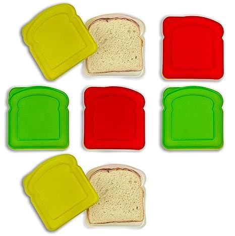 Amazon.com: DecorRack 6 Pack Sandwich Contenedores Libre de ...