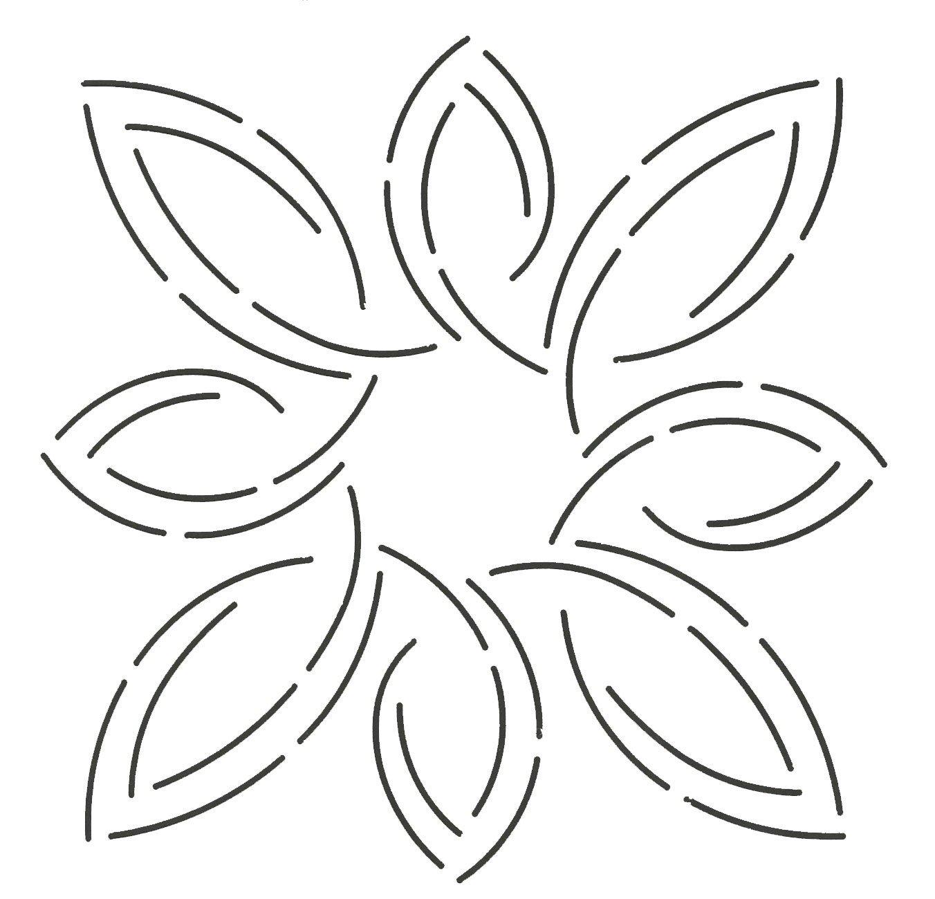 7 Quilting Creations Pear Leaf Medallion Stencil