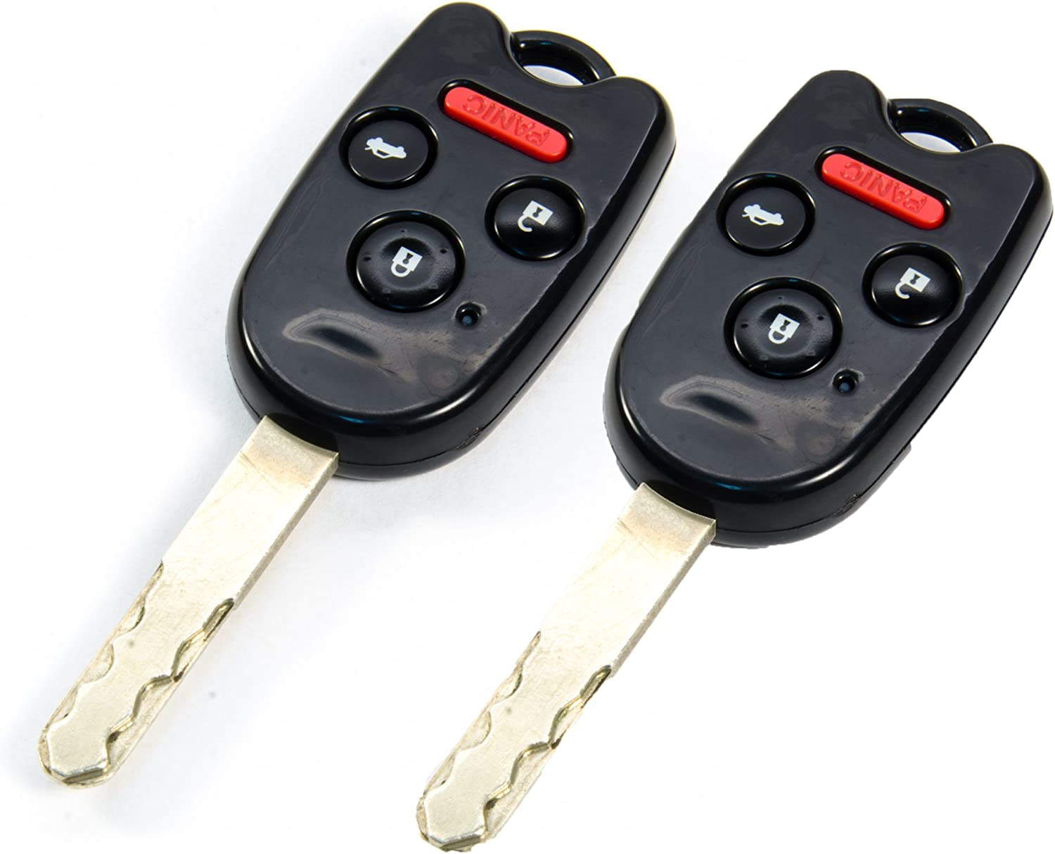 Amazon Com Stauber Best Honda Key Shell Replacement For Accord Ridgeline Civic And Cr V Kr55wk49308 N5f A05taa N5f S0084a No Locksmith Required Using Your Old Key And Chip 2 Pack Black Automotive