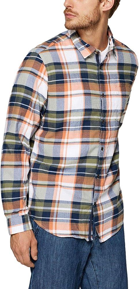 Camisa Esprit Manga Larga Cuadros Tostado XXL marrón: Amazon.es: Ropa y accesorios