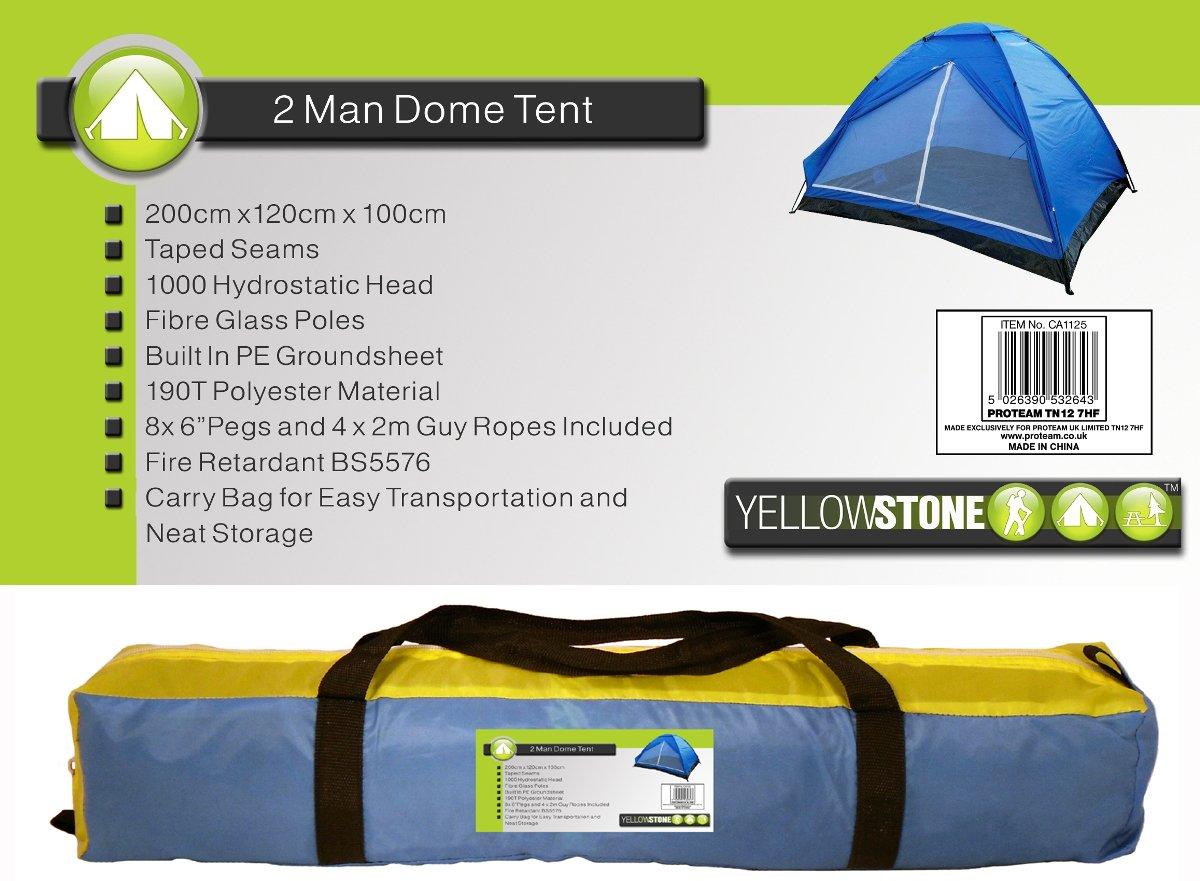 20 x 12 x 10 m Yellowstone Tienda de campa/ña para 2 Personas Color Azul