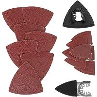 Driehoekige schuurschijven Kit 82-delig Zandvellen Pads Oscillerende zaag Schuurpapier Set Geen gaten…