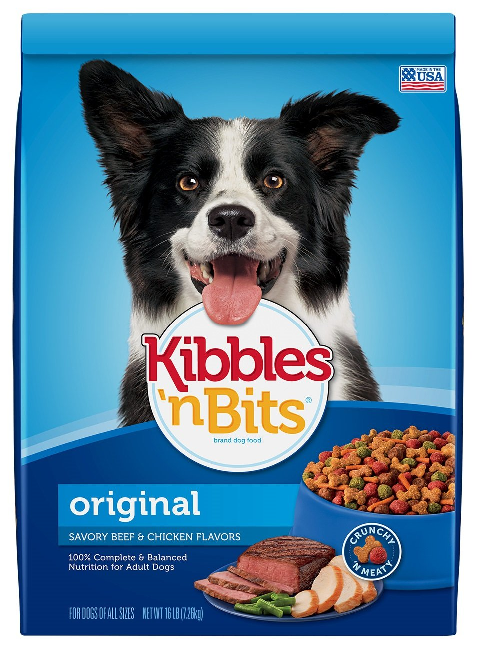 34f769dfcdc4 Kibbles  n Bits Original Savory Beef   Chicken Flavors Dry Dog Food ...