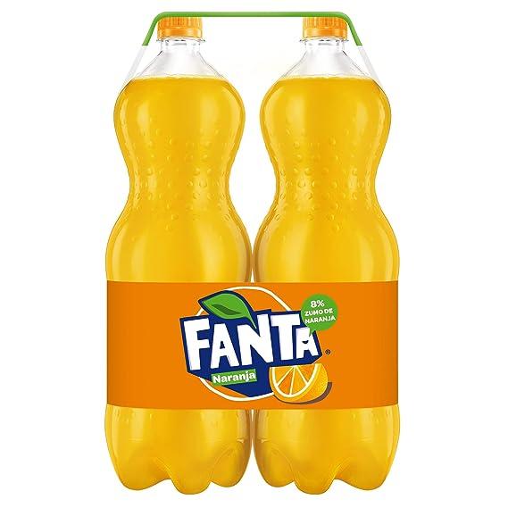Fanta de Naranja - Pack Ahorro, 2 botellas x 2 L (Total 4 L