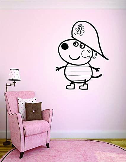 Amazon Com Peppa Pig Decals Wall Decor Kids Girls Bedroom Room Art