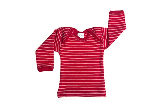 Hocosa Organic Merino Wool Baby Shirt Long Sleeves Envelope