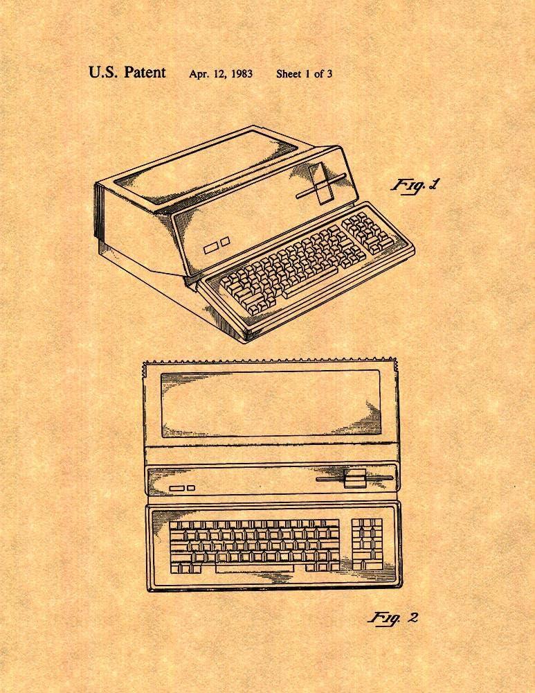 "Apple Personal Computer Patent Print (8.5"" x 11"") M10627"