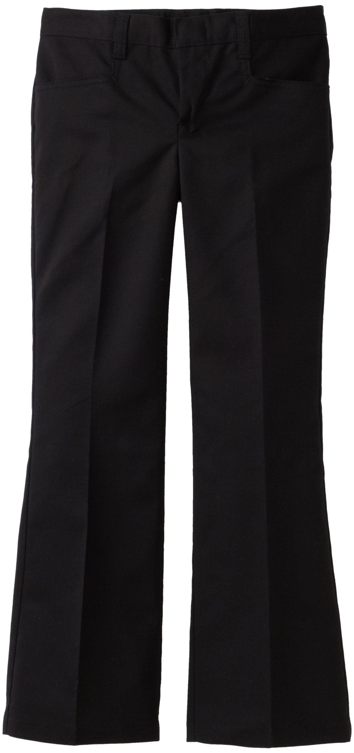 Dickies Big Girls' Flare Bottom Pant, Black, 18 Regular