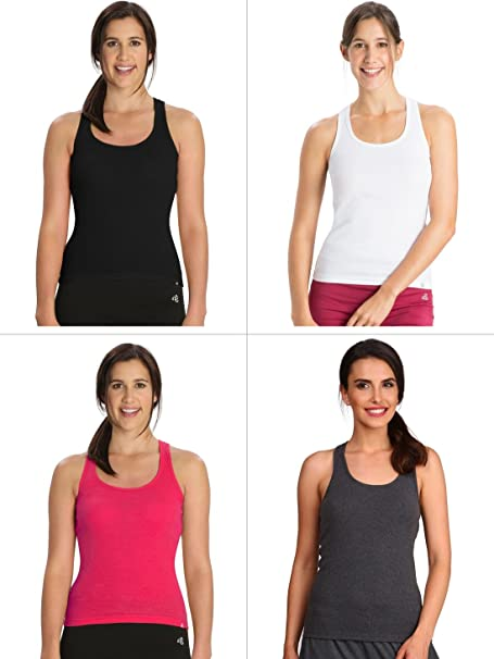 f38b1b3ac9077a Jockey Basic Color Racerback Tank Top Combo - Pack of 4   Style Number -  1467