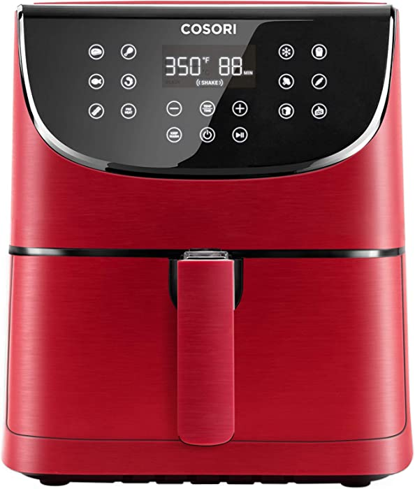 COSORI Air Fryer Max XL(100 Recipes) 5.8 QT Electric Hot Oven Oilless Cooker LED Touch Digital Screen with 11 Presets, Preheat and Shake Reminder, Nonstick Basket, Burgundy Red
