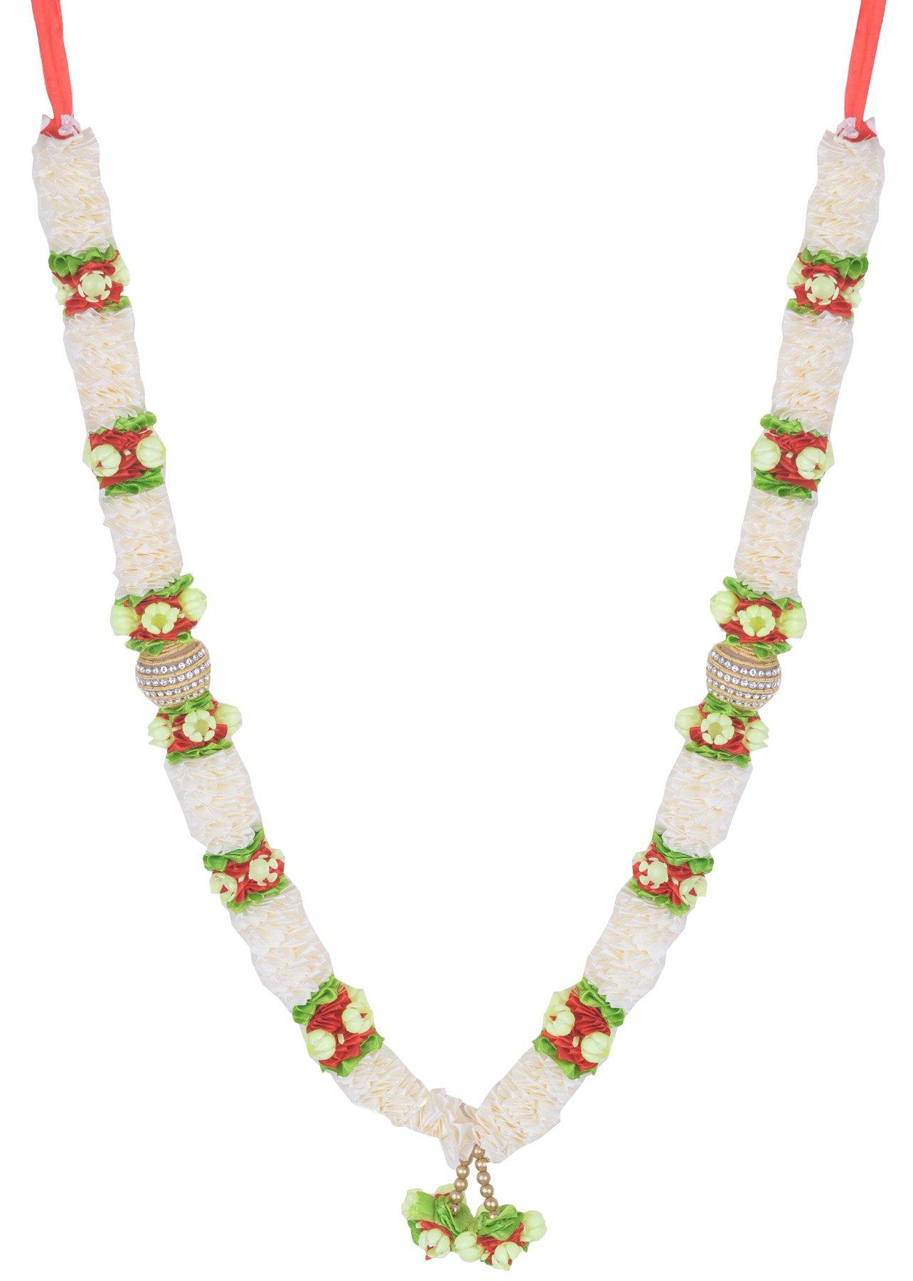 Decoration Craft Fabric Ribbon Off White colored Garland (48 CM + Ribbon)