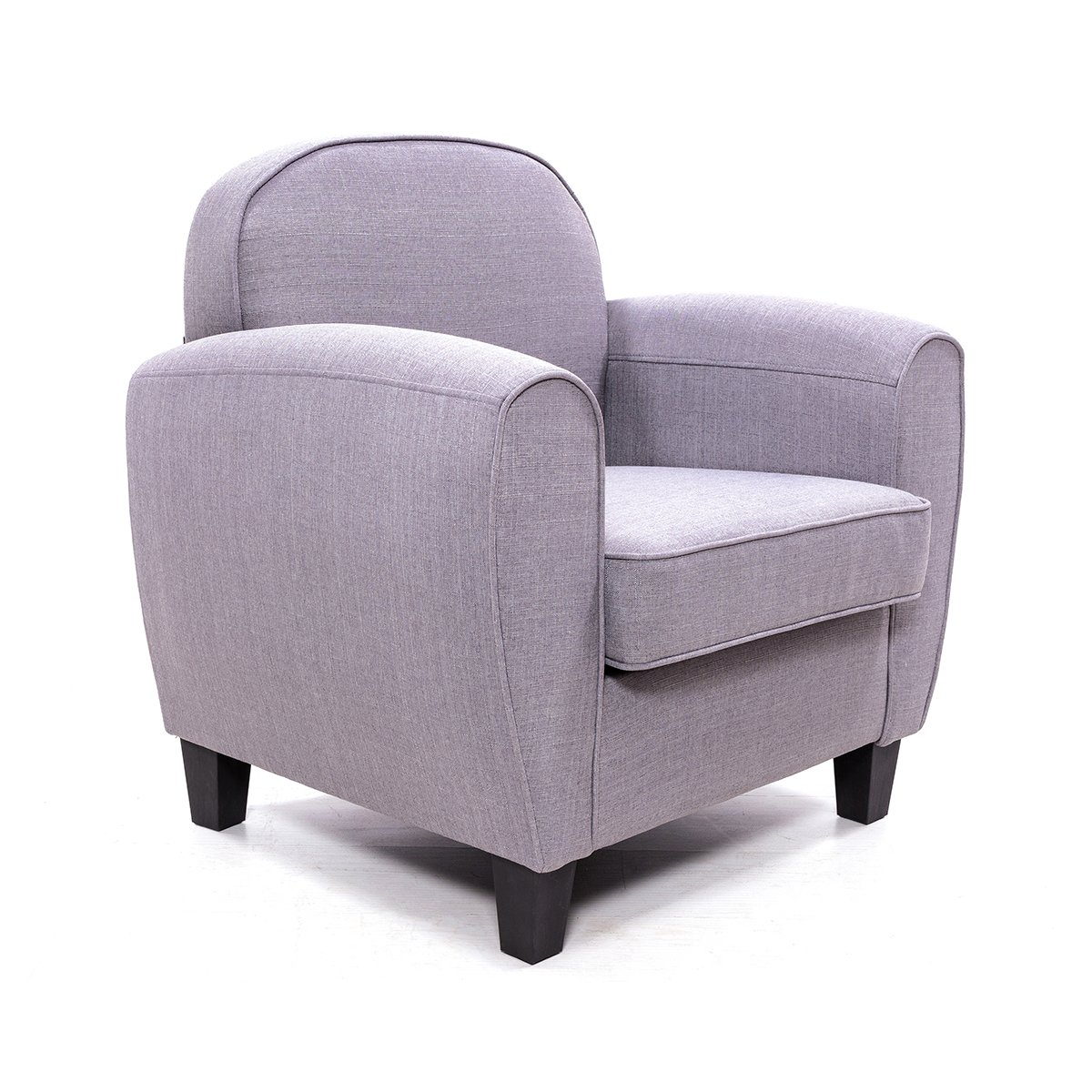 Panana Fauteuil en lin moderne gris de salle /à manger ou salon