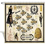 CafePress Bees Decorative Fabric Shower Curtain ...