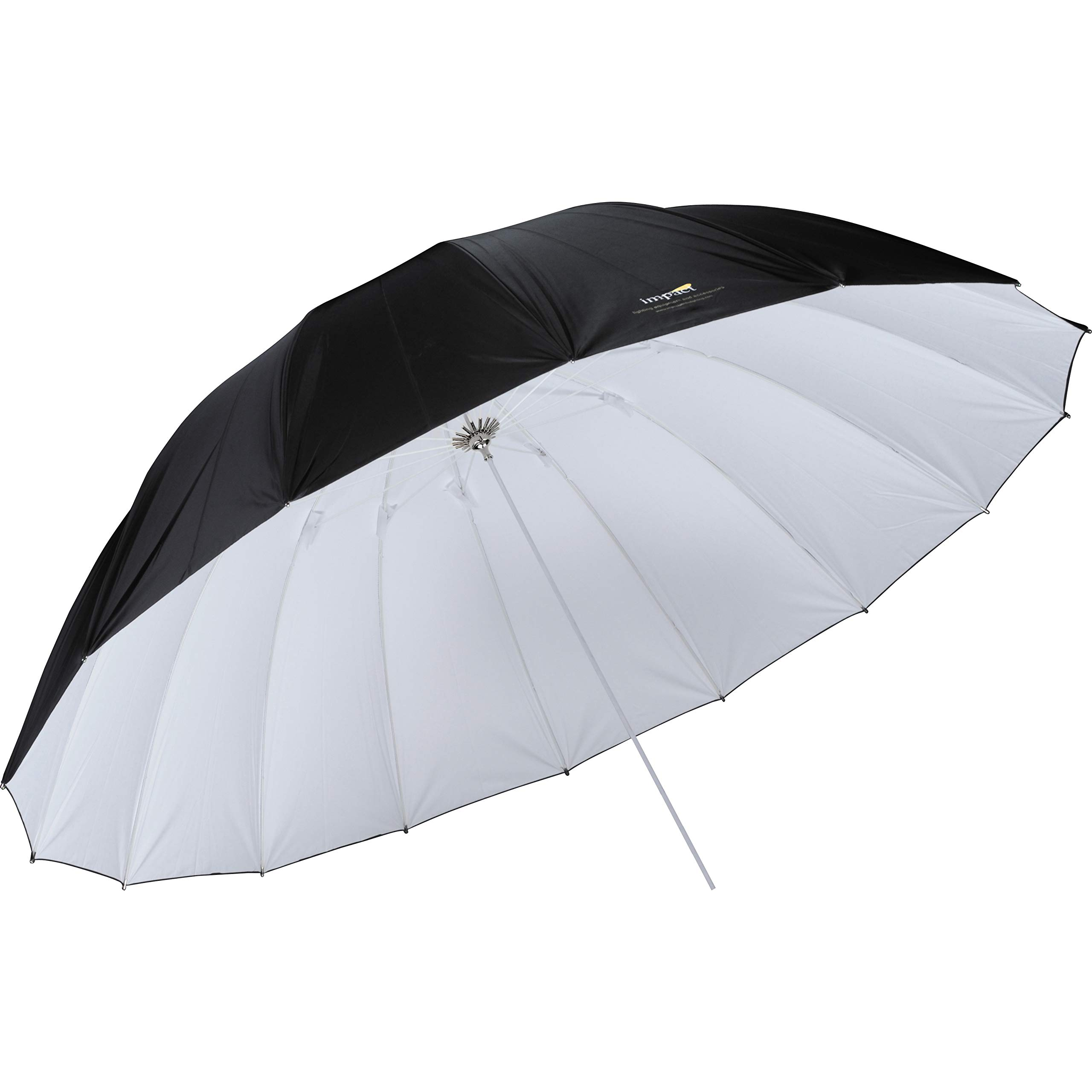 Impact 7' Parabolic Umbrella (White/Black) by Impact